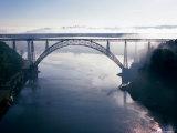 Ponte de Dona Maria Ria over Douro River, Sao Joao, Porto, Douro, Portugal Fotografiskt tryck av Brent Winebrenner