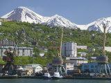 Mount Koryakskaya next to Mount Avachinskaya, Russia Photographic Print by Brent Winebrenner
