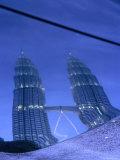 Petronas Towers at Dusk Reflected Off a Car Hood, Kuala Lumpur, Wilayah Persekutuan, Malaysia Photographic Print by Dominic Bonuccelli