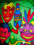 Mural in Jungle Bar, Cabo San Lucas, Baja California Sur, Mexico Photographic Print by Richard Cummins