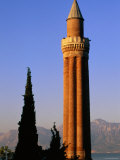 Grooved Minaret of Yivali Minari, Antalya, Turkey Photographic Print by John Elk III
