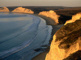 Drakes Beach and the Cliffs at Sunrise, Point Reyes National Seashore, California Photographic Print by John Elk III