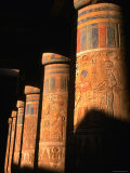 Columns at Ramses III Second Court, Medinat Habu, Thebes, Luxor, Egypt Photographic Print by John Elk III