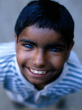 Boy with One Blue and One Brown Eye, Nawalgarh, Rajasthan, India Photographic Print by Daniel Boag