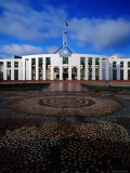 Parliament House with Mosaic in Foreground, Canberra, Australian Capital Territory, Australia Photographic Print by Richard I'Anson
