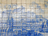 Azulejos, Portugal's Painted Tiles at the Museo Nacional Do Azulejo, Lisbon, Portugal Lámina fotográfica por Greg Elms