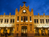 Modernista Facade of Estacion del Norte, Valencia, Spain Photographic Print by Greg Elms