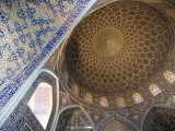 Mosaic Ceiling in Masjed-E Sheikh Lotfollah Mosque, Emam Khomeini Square, Esfahan, Iran Photographic Print by Holger Leue