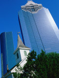 St. John Church and Skyscrapers, Houston, Texas Photographic Print by Holger Leue