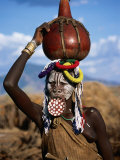 Mursi Woman with Lip-Plate, Mago National Park, South Omo, Ethiopia Photographic Print by Ariadne Van Zandbergen