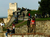 People at Kalemegdan Citadel, Belgrade, Serbia Photographic Print by Doug McKinlay