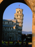 Leaning Tower Framed by Arch, Pisa, Tuscany, Italy Photographic Print by John Elk III