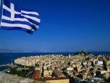 The Island of Corfu from the New Citadel, Corfu Island, Ionian Islands, Greece Photographic Print by John Elk III