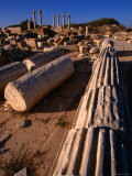 Fallen Columns of the Sabratha Forum, Sabratha, an Nuqat Al Khams, Libya Photographic Print by Doug McKinlay