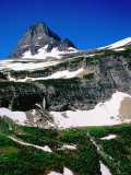Mid-Summer Snow on Mountain, Glacier National Park, Montana Photographic Print by Holger Leue