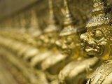 Statues, Wat Phra Kaeo, Bangkok, Thailand Photographic Print by Brent Winebrenner