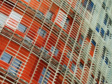 Facade Detail of the Torre Agbar, Barcelona, Catalonia, Spain Photographic Print by Krzysztof Dydynski