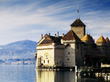Chateau de Chillon on Lake Geneva, Chillon, Vaud, Switzerland Fotografie-Druck von Witold Skrypczak
