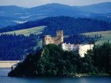Horvath Castle on Czorsztyn Lake from Czorsztyn Castle, Niedzica, Malopolskie, Poland Fotodruck von Witold Skrypczak
