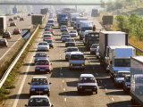 Traffic Congestion on the M25 Motorway, Surrey, England Photographic Print by David Tomlinson