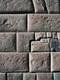 Detail: Inca Wall, Showing Their Remarkable Stonemasonry Skills, Cuzco, Peru Photographic Print by Richard I'Anson