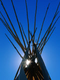 Sun Shining through Top of Teepee Photographic Print by Holger Leue