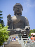 Tian Tan Buddha Statue, Lantau Island, Lantau Island, Hong Kong, China Photographic Print by Greg Elms