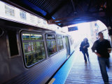 Riding the Brown Line el in the Loop, Chicago, Illinois Photographic Print by Ray Laskowitz