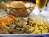 Pork and Clams, a Traditional Portuguese MealLisbon, Portugal Photographic Print by Greg Elms