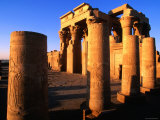 Hypostle Hall from Court at Temple Built in 1St Century Bc, Kom Ombo, Egypt Photographic Print by John Elk III