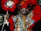 Person in Costume, Mummers Parade, Philadelphia, Pennsylvania Fotografisk tryk af Margie Politzer