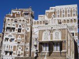Traditional Houses, Old Town, San'a, Yemen Fotoprint van Holger Leue