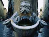 Street Corner Fountain, Florence, Italy Photographic Print by John Elk III