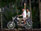 Boys on Motorbike, Lagundri Bay, Pulau Nias, North Sumatra, Indonesia Photographic Print by Paul Kennedy