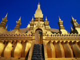 Pha That Luang, Vientiane, Vientiane Prefecture, Laos Photographic Print by Christopher Groenhout