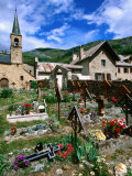 La Grave Church 12th Century, Rhone-Alpes, France Photographic Print by John Elk III