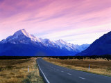 Early Morning of Mount Cook and Other High Peaks of Southern Alps, New Zealand Photographic Print by Ross Barnett