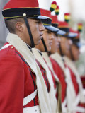 Guardia Colorada's Flag Lowering Ceremony in Plaza de Armas, La Paz, Bolivia Photographic Print by Brent Winebrenner