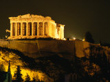 Acropolis at Night Seen from Filopappou Hill, Athens, Attica, Greece Photographic Print by Anders Blomqvist