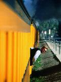 Conductor, Durango and Silverton Narrow Gauge Railway, Durango, Colorado Photographic Print by Holger Leue