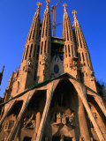 Western Facade of Gaudi's Sagrada Familia, Barcelona, Catalonia, Spain Photographic Print by John Elk III
