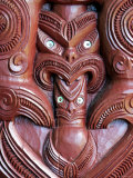 Detail of Carving on Entrance to Takitimu Marae Meeting House, Wairoa, New Zealand Photographic Print by Paul Kennedy