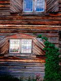 Gable of Old Wooden Chalet in Fryksas, Orsa, Dalarna, Sweden Fotoprint van Anders Blomqvist
