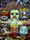 Traditional Painting at Museum Puri Lukisan, Bali, Indonesia Photographic Print by Stephane Victor