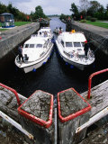 Carrick Craft, Albert Lock, Jamestown, Upper Shannon, Ireland Photographic Print by Holger Leue