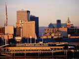 Downtown Cityscape, View from Across Estuary, Oakland, California Fotografie-Druck von John Elk III