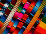 Traditional Textiles for Sale in Zona Romantica, Mexico Photographic Print by Anthony Plummer