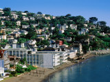 Waterfont Houses at Town Beach, Sausalito, California Photographic Print by John Elk III