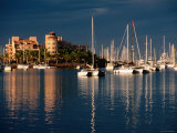 Yachts in Harbour Under Stormy Sky, La Paz, Baja California Sur, Mexico Photographic Print by John Elk III