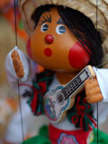 Traditional Mexican Puppet at Street Stall near Playa de Los Muertos in Zona Romanica, Mexico Photographic Print by Anthony Plummer